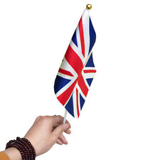 Small Union Jack UK Hand Flag - England British Game Supporter Car Travel Banner