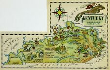 Kentucky Antique Vintage Pictorial Map