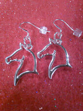 Sterling Silver Horse Head Earrings on .925 Sterling Silver Hooks