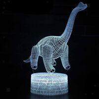Lampada da illusione 3D a luce notturna di dinosauro con telecomando, lampada da