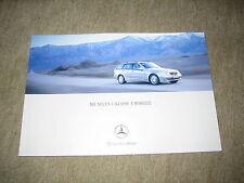 Mercedes C-Klasse T-Modell S203 Prospekt Brochure von 2/2001, 64 Seiten