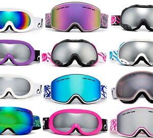 Cloud 9 Ski Goggles Women  Snow Winter Anti Fog Dual Lens UV Protection w/Pouch