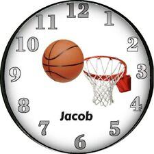Basket Ball Wall Clock Kids Sports Bedroom Decor Boys Room Personalized