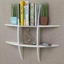MDF Floating Cubes Wall Storage Book CD Display Shelf White