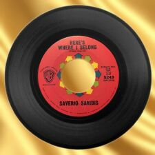 1961 Saverio Saridis 'Here's Where I Belong/Love Is The Sweetest Thing' 45 RPM