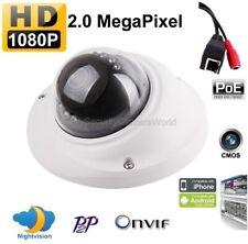 H.264 PoE 2.0MegaPixel 1080P Mini IR IP Security In/outdoor Dome Camera, Onvif