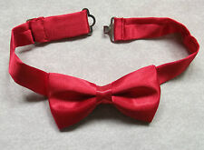 NEW LUXURY BOYS RED SILKY DICKIE BOW TIE BOWTIE ADJUSTABLE PARTY CHRISTENING