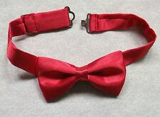 Boys Bow Tie Adjustable Bowtie UNISEX Boy Girl RED