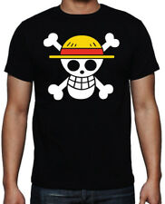 One Piece Pirate Monkey D Luffy Japanese Anime Cartoon Manga New Black T Shirt
