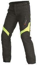 Pantaloni Tessile Dainese Tempest Pants D-dry 50-black / Yellow Fluo