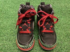Nike Air Jordan Spizike Black Red Classic Green '17 BT Toddler 317701-026 sz 10C