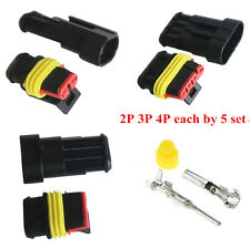15 Kits Sets 2 3 4 Pins Way Sealed Waterproof Electrical Wire Connector Plug Car