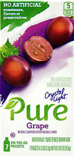 50 7-Packet Boxes Crystal Light Pure Grape On The Go Drink Mix