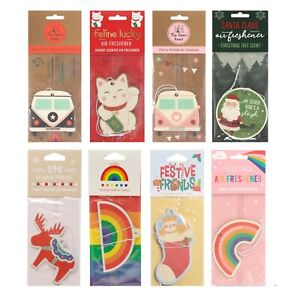 Assorted Designs Scents Hanging Car Home Card Air Freshener (1 Supplied)