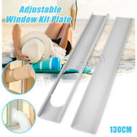 2PCS White Window Slide Kit Plate/Exhaust Hose For Portable Air Conditioner US
