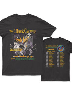 Black Crowes 30th Anniversary Tour 2021 New Black T-shirt.All size FREE SHIPPING