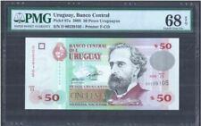 Uruguay 50 Pesos 2008 (PMG EPQ 68) D00239105
