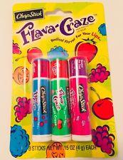 CHAPSTICK Flava Craze Grape Strawberry Fruit Flavored Lip Balm