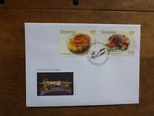 SLOVENIA 2017 GASTRONOMEY SET 2 STAMPS FDC FIRST DAY COVER