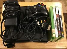 Xbox  360 4gb black system with 4 games (gta 5, gear of war 3, soul calibur 4 ,