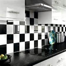 50 Semi Gloss Black Bathroom Kitchen 15x15 cm Tile Transfer Stickers Easy Apply