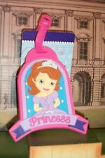 New Disney PRINCESS Sofia Luggage Tag Name Bag Suitcase Baggage BACKPACK RUBBER