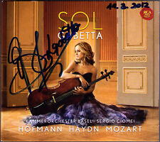 Sol GABETTA Signiert HAYDN Leopold HOFMANN MOZART Cello Concerto CD Cellokonzert