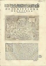 Antique maps, Elba [Porcacchi, 1576]