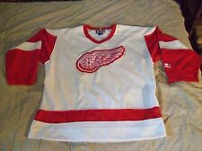 STARTER DETROIT RED WINGS NHL HOCKEY JERSEY SIZE LARGE WHITE/RED GREAT CONDITION