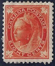 Canada 1897 Queen Victoria 8 Cents Sc 72 Hinged Catalog Value $300