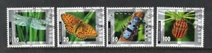 SWITZERLAND USED 2002 SG1516-1519 INSECTS