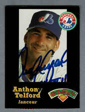 """1998 Montreal Expos """"Hit The Books"""" Anthony Telford Autographed Card"""