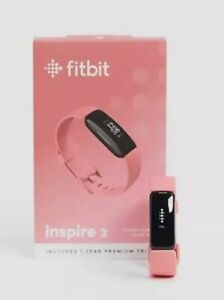 FITBIT Inspire 2 Smartwatch Silicone Strap Water Resistant Desert Rose **