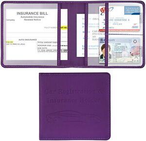 Car Registration and Insurance Holder, Vehicle Glove Box Car Organizer Men Women