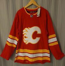 Calgary Flames size 44 - 2021 home Adidas Aeroready Hockey Jersey Authentic