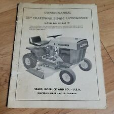 """Sears Craftsman 32"""" Lawn Tractor Riding Mower Owner's Manual 131.96410"""