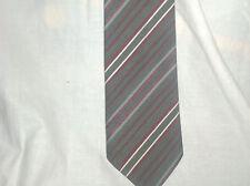 Nr.257, getragene Krawatte, Jacques Monet, 100% Polyester, grau mit roten Nadels