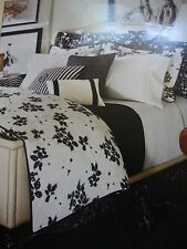 NEW RALPH LAUREN PORT PALACE BLACK WHITE FLORAL 4 PIECE QUEEN COMFORTER SET