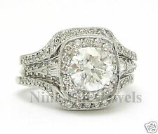 2.65CT ROUND ANTIQUE DIAMOND ENGAGEMENT RING & 2 BANDS