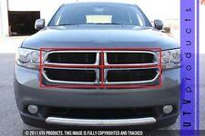 GTG 2011 - 2013 Dodge Durango 4PC Gloss Black Upper Overlay Billet Grille Kit