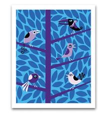 "Josh ""Shag"" Agle ""Birds"" art poster serigraph print"