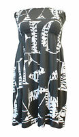 Women Sheering Boob Tube Gather Ruched Bandeau  Top Summer Mini Dress Size 8-24