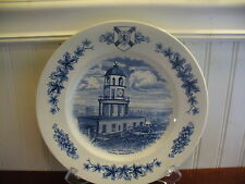 Burleigh England Porcelain Halifax Clock Tower Canada Plate