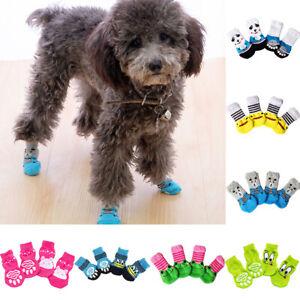 Puppy Dog Anti Slip Bottom Socks Warm Knits Sock Pet Cats Shoes Paw Protection