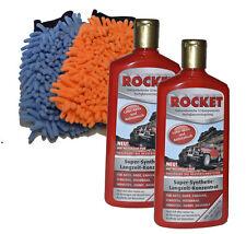 Set: 2 x 500 ml Rocket Autopolitur Versiegelung Politur Pflege + 2 x Handschuh