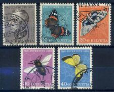 Svizzera 1950 Mi. 550-554 Usato 100% Pro Juventute, farfalle
