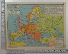 1941 WW2 MAP GERMAN EXPANSION FRANCE GERMANY POLAND BRITISH EMPIRE MILITARY