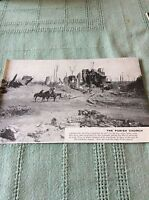 m10b ephemera ww1 picture flers church 1918