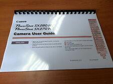 Canon Powershot sx270hs/sx280 Manual de instrucciones impreso Guía de usuario 197 Páginas A5