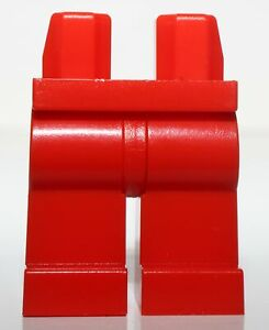 Lego Red Minifig Legs with Red Hips NEW
